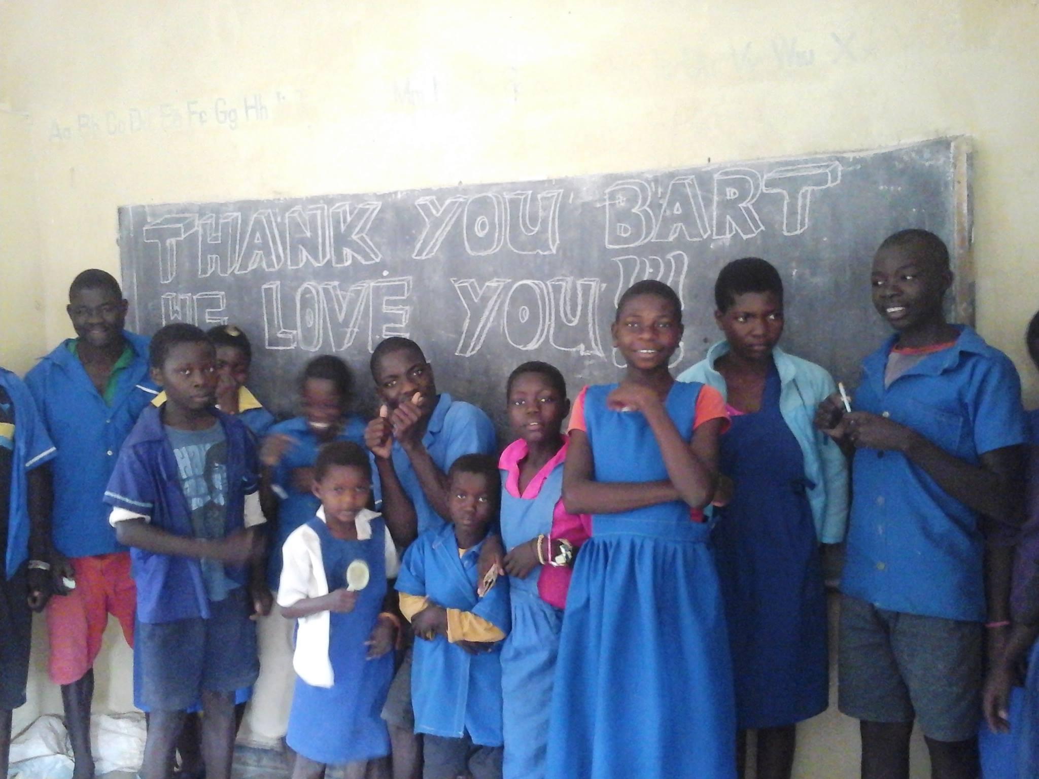 The students at Bandawe are thankful to Bart