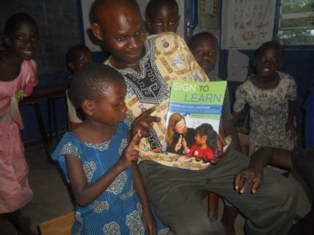 Donation of books at Bandawe