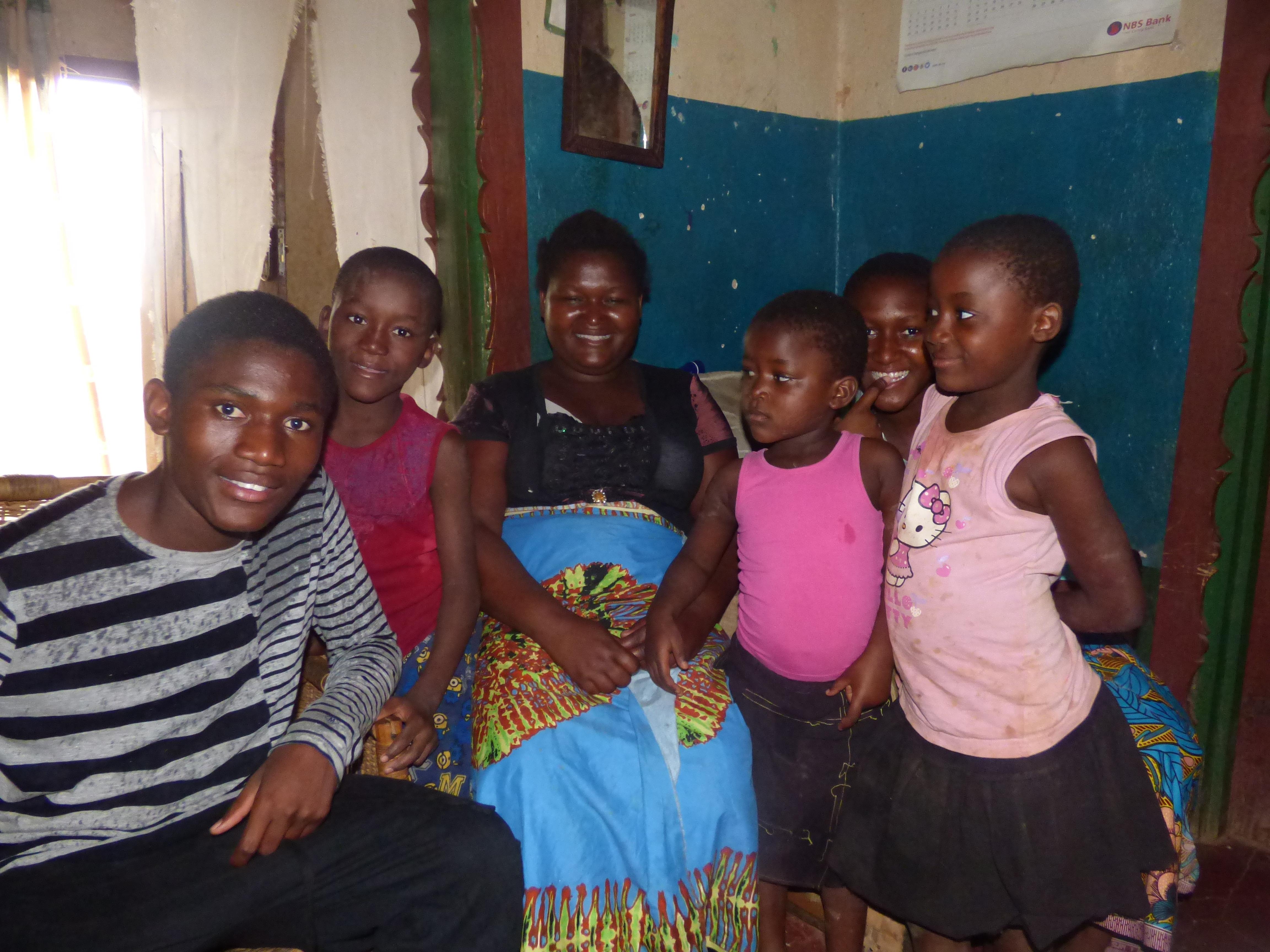 Ramos, his mum and his siblings