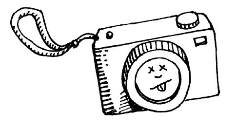 Broken camera cartoon