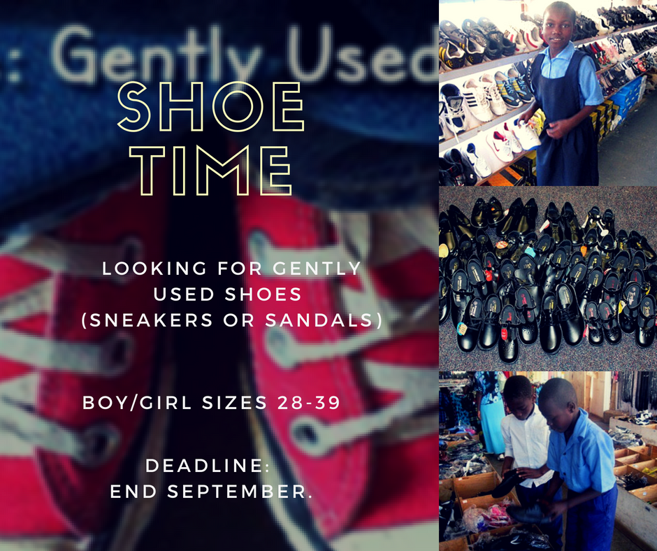 Looking for gently used shoes to donate