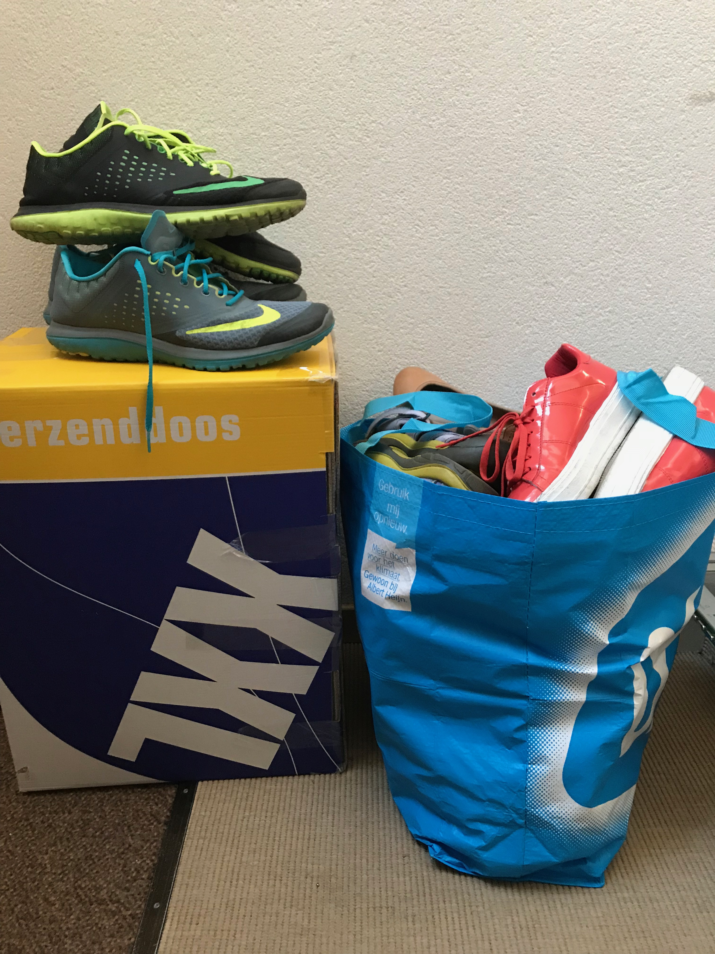 The shoes sent to Malawi