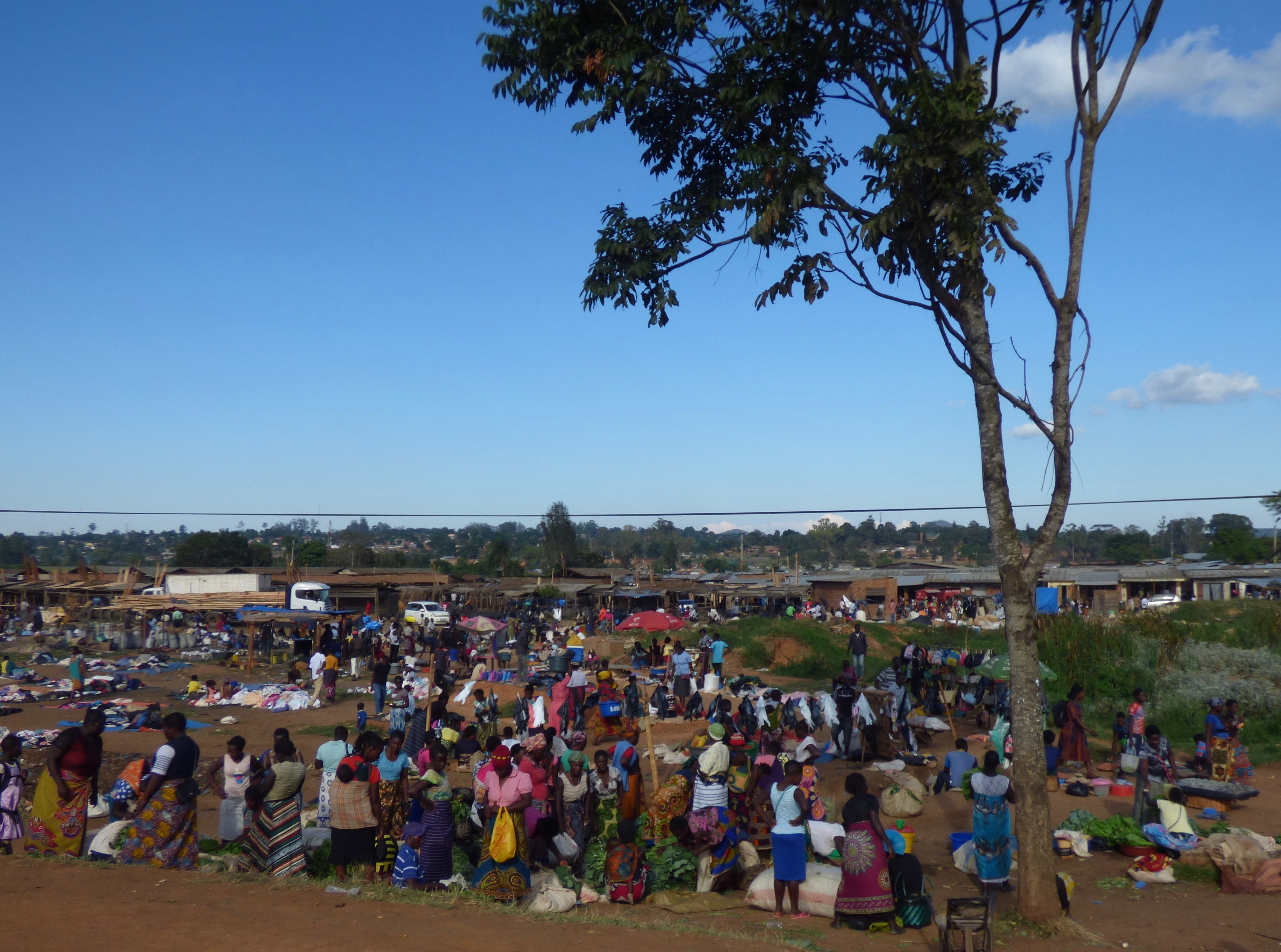 How is Mzuzu: people at the market