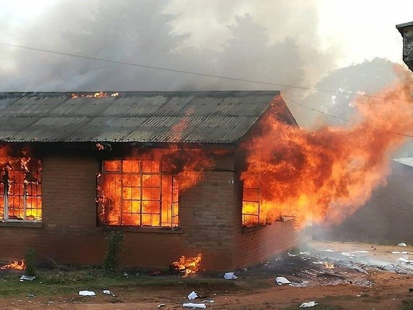 Office on fire in Mzuzu after elections